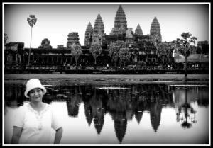 Riyanti at Angkor Wat