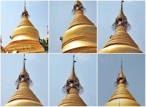 Man Climbing Main Stupa Kuthodaw
