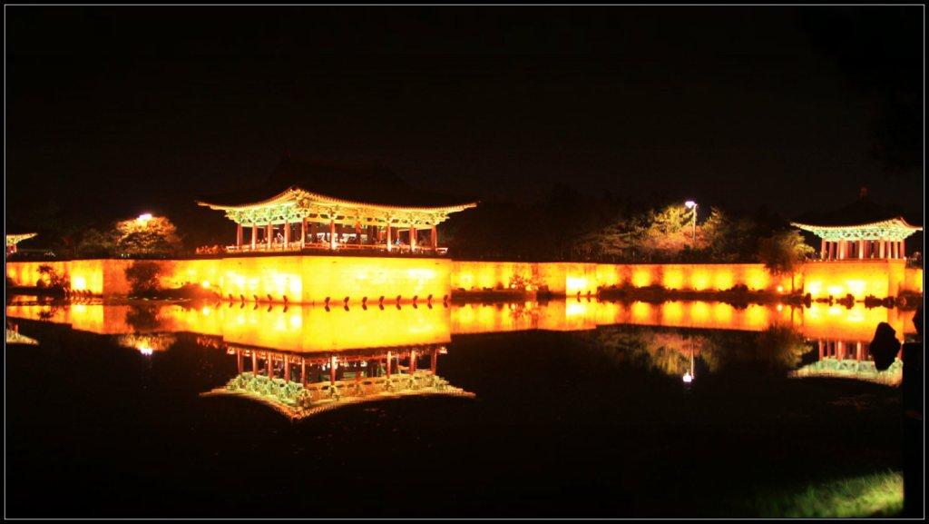 Anapji Pond dari sisi seberang