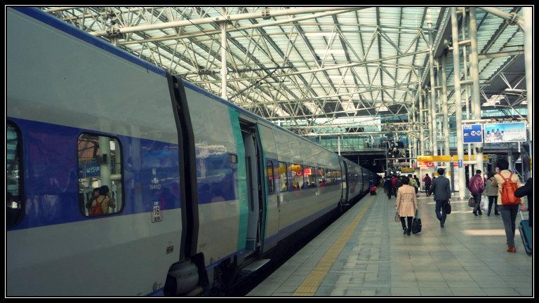 Akhirnya KTX sampai di Seoul Station