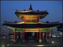 Seojangdae (Western Command Post), built 1794 on the summit of Mt. Paldal