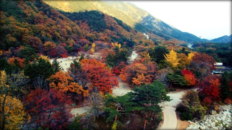 Seoraksan National Park view from Cable Car