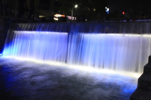 The Welcoming Blue Waterfall