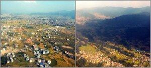 Jelang Kathmandu - View dari udara