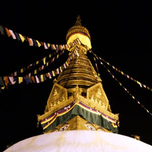Prayer Flags, The Eye, The Stupa of Swayambhunath