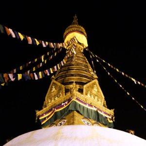 Prayer Flags, The Eye, The Stupa of Swayambhunath