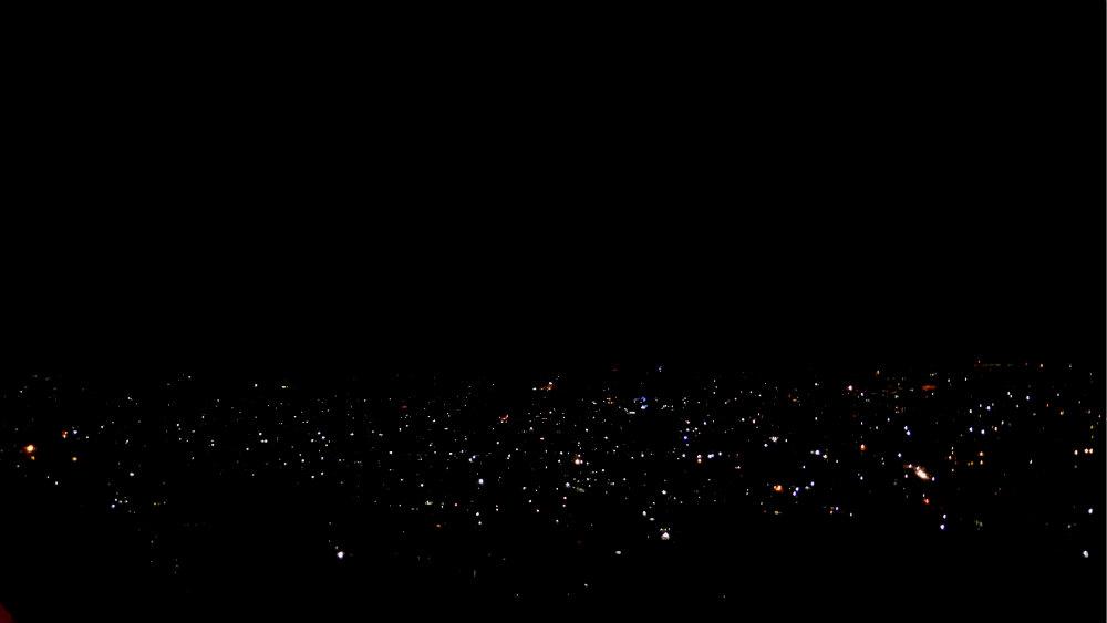 Night view over Kathmandu Valley