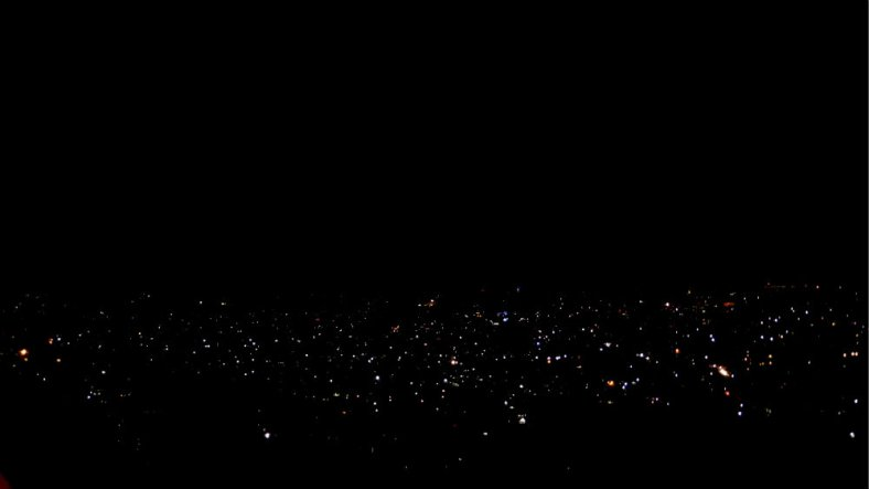 Night view over Kathmandu Valley