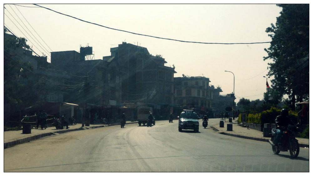 Situasi jalan di Kathmandu