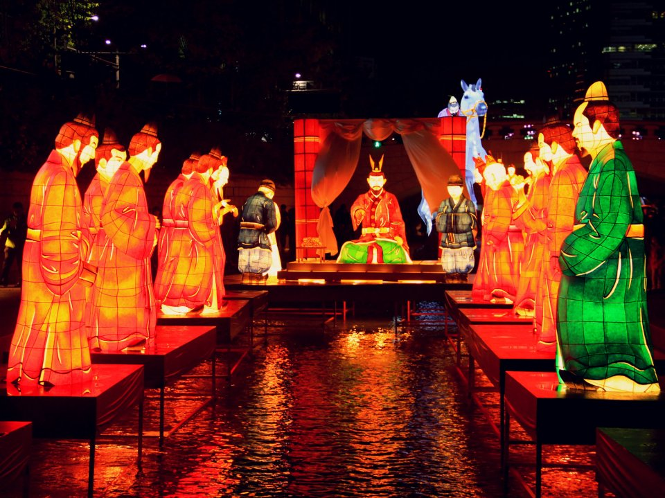 Lantern Festival in CheonggyeCheon Stream, Seoul, Korea