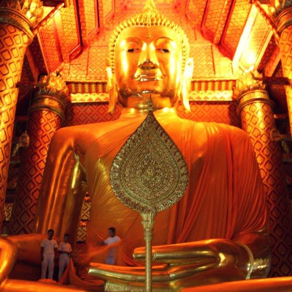 Giant Buddha in Ayyuthaya, Thailand
