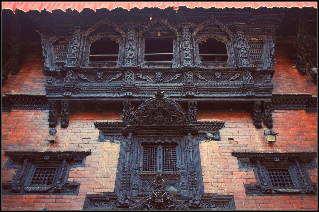 The Wall of Kumari Ghar, Kathmandu, Nepal