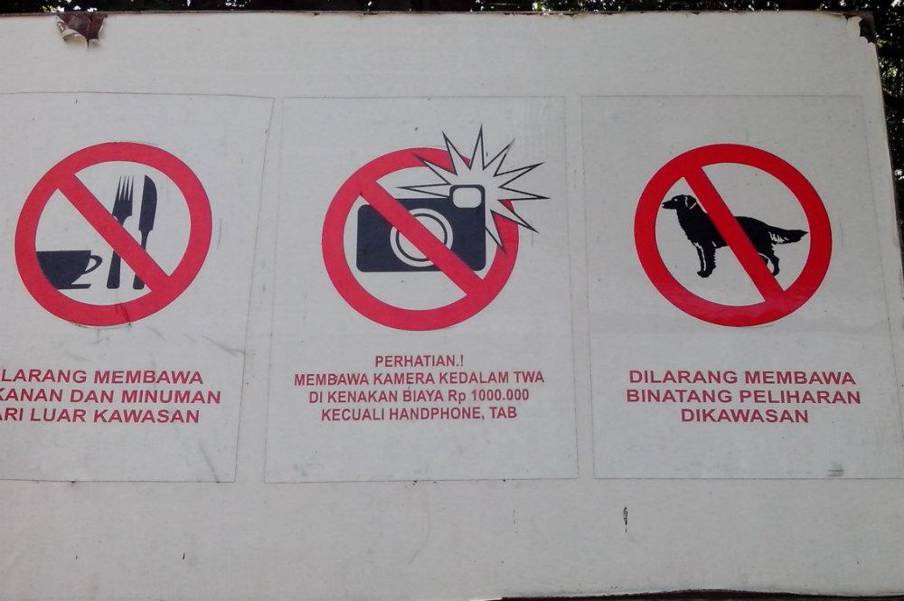 Dilarang bawa kamera kecuali bayar 1juta