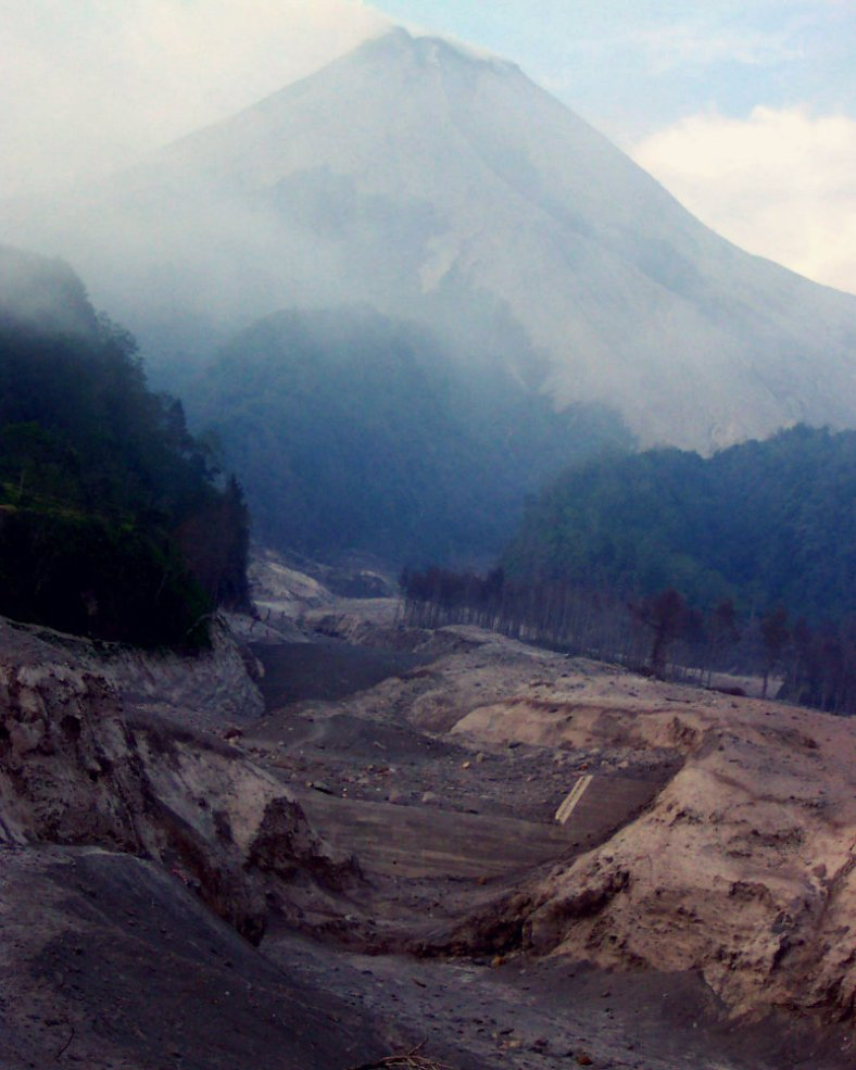 The Damaged Sand Barriers of Mt Merapi
