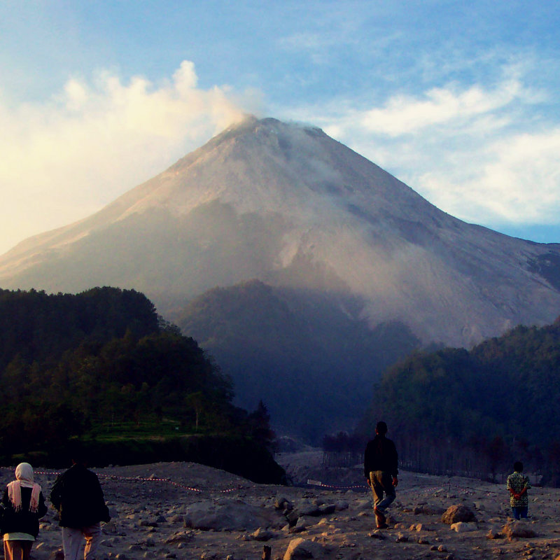 The affected area of Mt Merapi