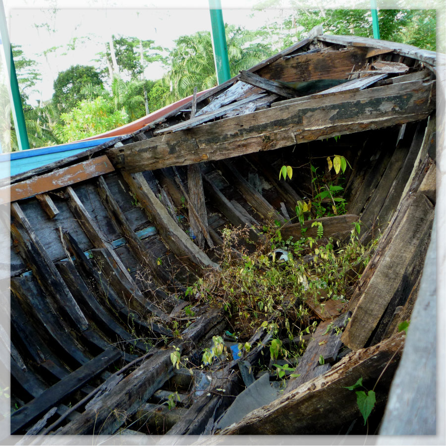 Boat of the Vietnamese Boat people in Galang Island
