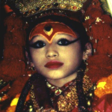 Kumari - I took from a postcard