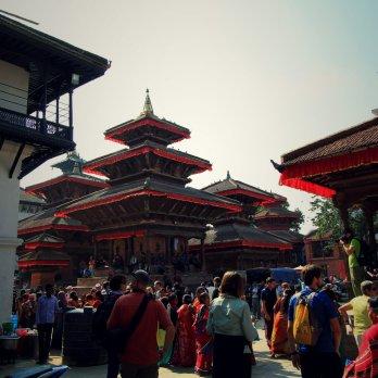 A festival in Durbar Square