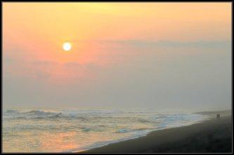 Sunset at Southern Beach of Jogja