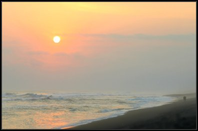 Sunset at Southern Beach of Jogja