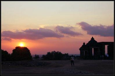 Sunset at Ratu Boko, Jogjakarta