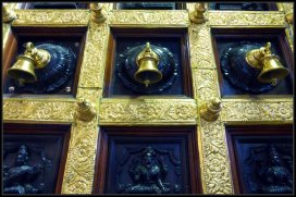 Small bells on a Hindu Temple in Singapore
