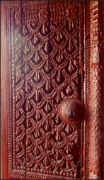 The door of Kumari Ghar - can you see the skulls?