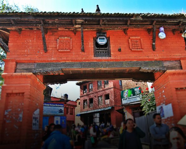 Main Gate of Changu Narayan Village