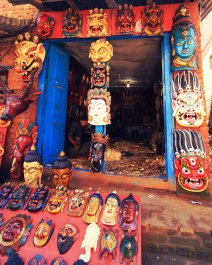 Gift shop along Changu Narayan village
