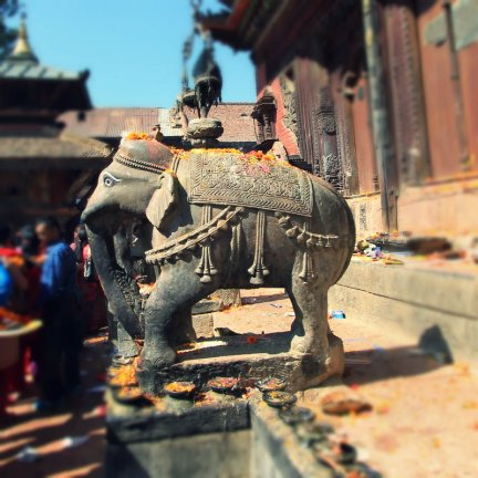 Elephants as The Temple Guards