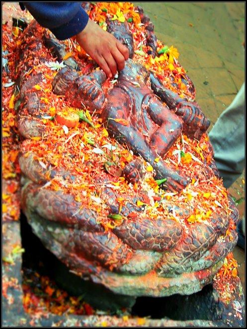 Vishnu On Sesha Naga