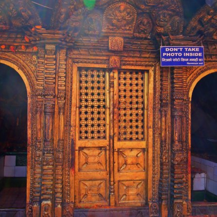 The Door of Chhinnamasta Temple