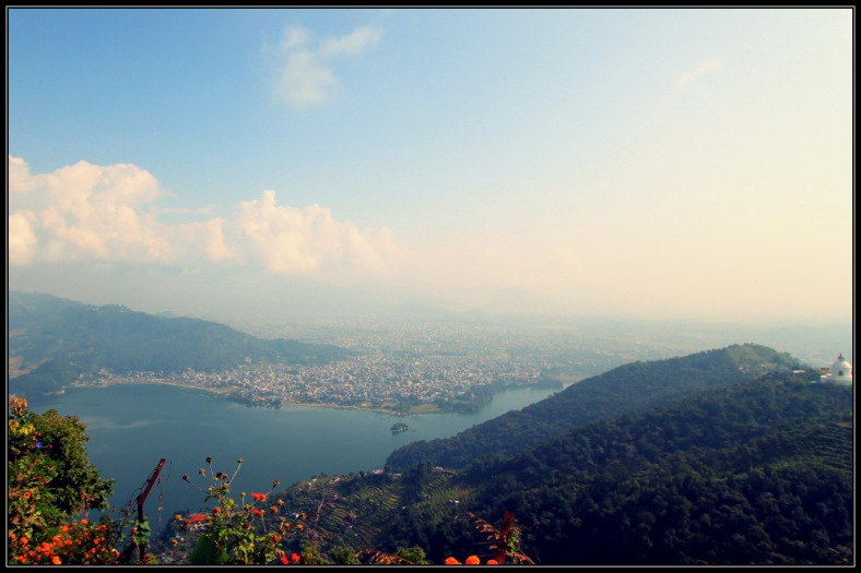 Pokhara and Phewa Lake At Noon