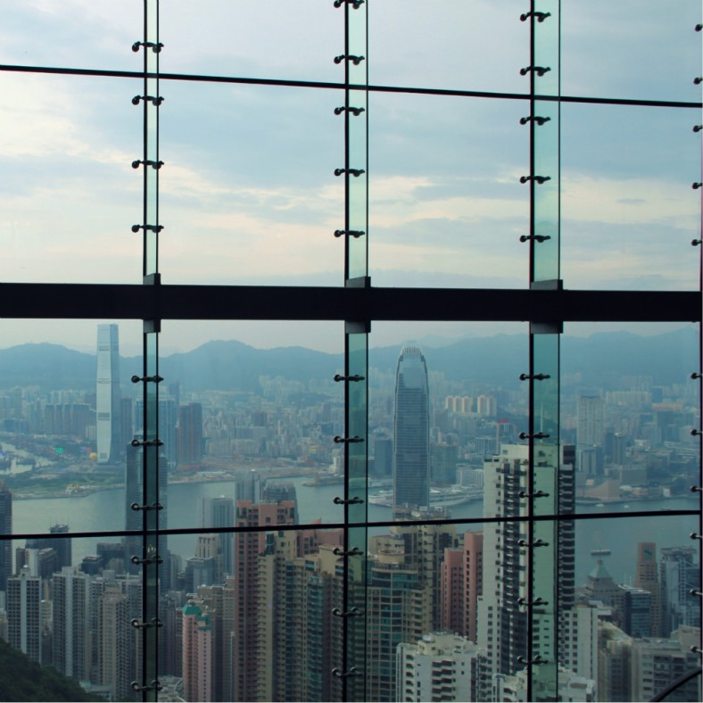 Hong Kong view from the Sky Terrace, The Peak