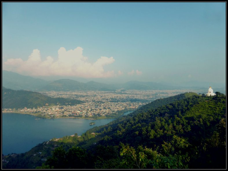 Pokhara and Phewa Lake in the Late Afternoon