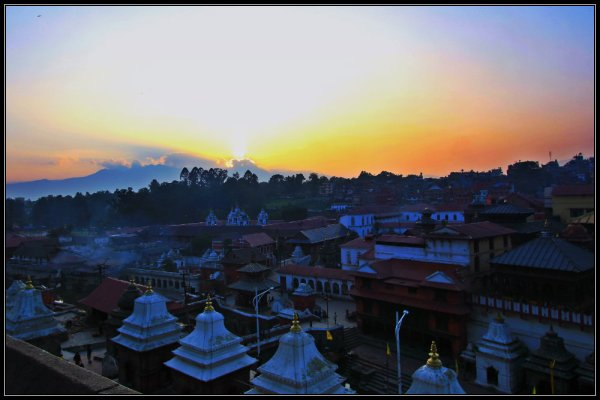 Sunset at Pashupatinath