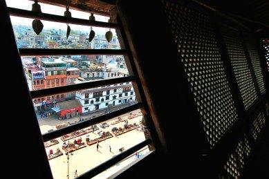 The wooden window on top Floor