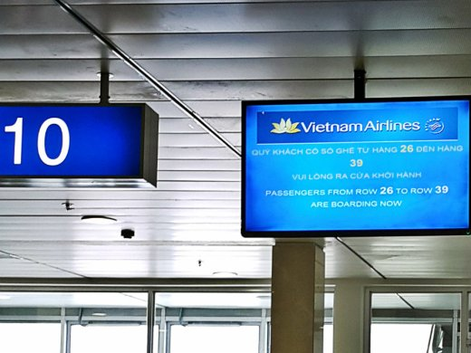 Vietnam Airlines - Boarding to Da Nang