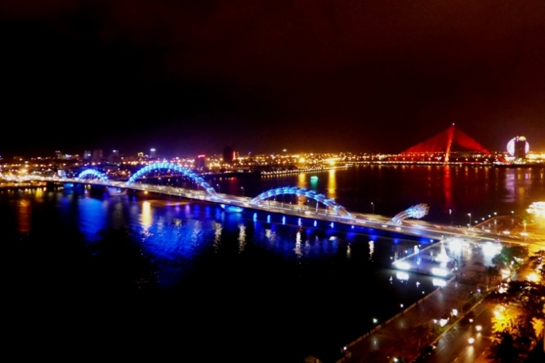 Dragon Bridge at Night - Da Nang