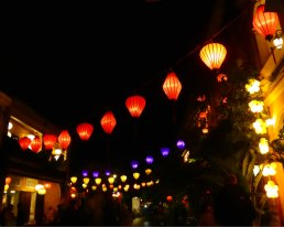 Hoi An lanes at night