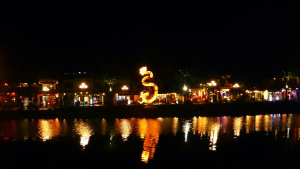 Hoi An and Thu Bon River at Night