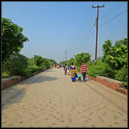 A Long Walkway to Lumbini