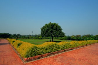 A Park in front of Mayadevi Temple