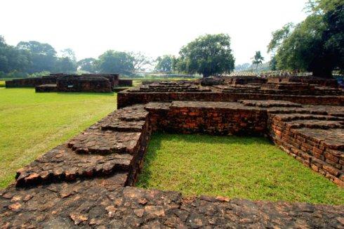 The ruins in Lumbini