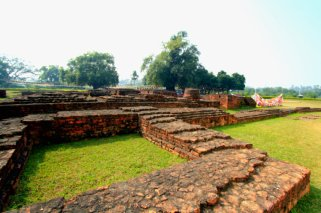The ruins in Lumbini