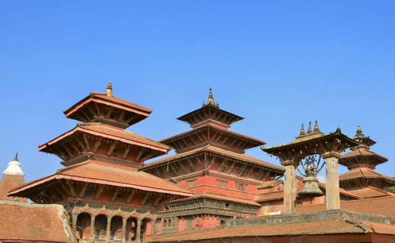 Hari Shankar temple - Degu Taleju - Taleju Bell - Taleju Temple (left-right)