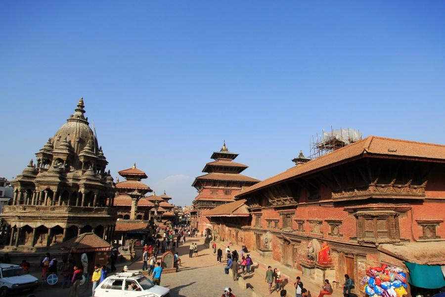 Patan Durbar Square in the afternoon