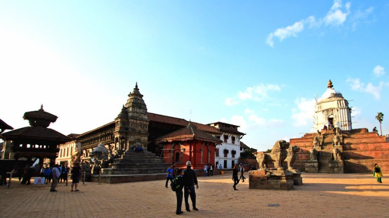 Bhaktapur Durbar Square from Eastern Gate