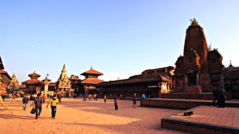 Bhaktapur Durbar Square From Western Gate
