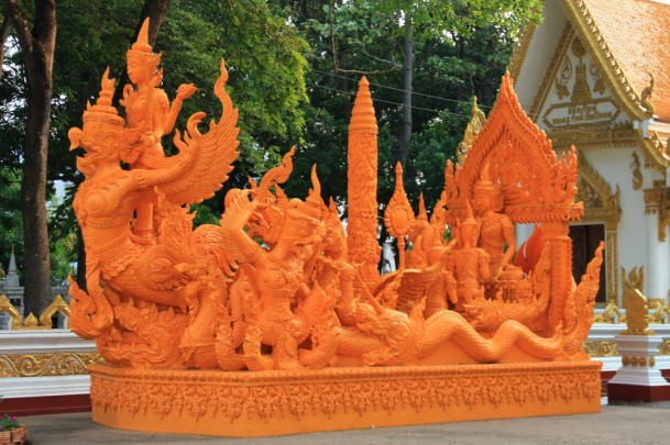 The Sculpture in Wat Phra That Nong Bua, Ubon